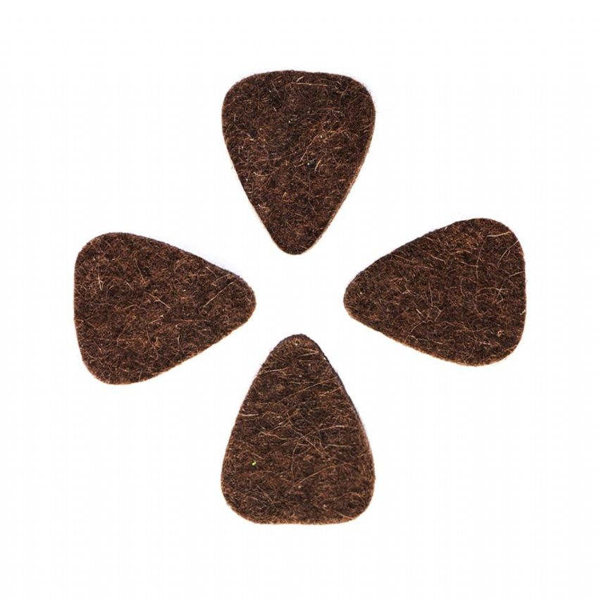 Felt Tones Mini - Brown - 4 Ukulele Picks | Timber Tones